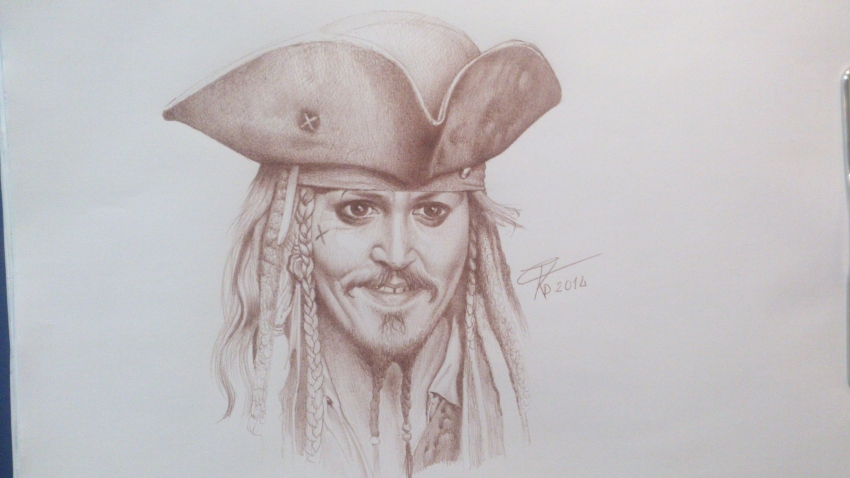 Johnny Depp by wilf